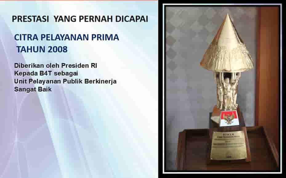 Penghargaan Citra Pelayanan Prima Tahun 2008