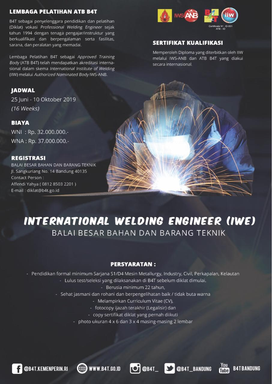 International Welding Engineer Tahun 2019